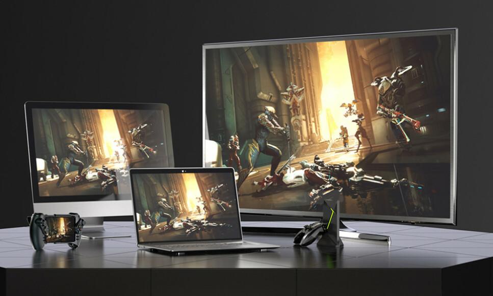 FLEKSIBELT: Med GeForce Now kan du strømme spill du allerede har kjøpt på en rekke enheter. Foto: Nvidia