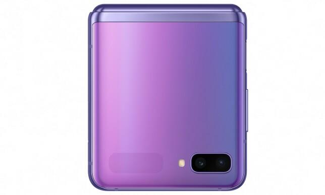 Det grå feltet nederst til venstre er den lille utenpå-skjermen på 1,1 tommer. Foto: Samsung