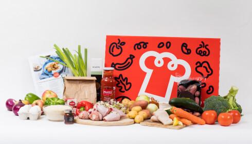 Flere av leverandørene har forskjellige «temakasser», dette er hverdagskassen til Godtlevert. Foto: Godtlevert