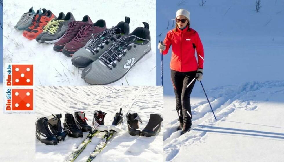 PRODUKTENE DU TRENGER: Piggsko, skisko og skidress er noe av det du kanskje trenger til vinterferien. Se Dinsides tester av dette og mange andre fritidsprodukter i saken under. Foto: Per Ervland og Eilin Lindvoll.