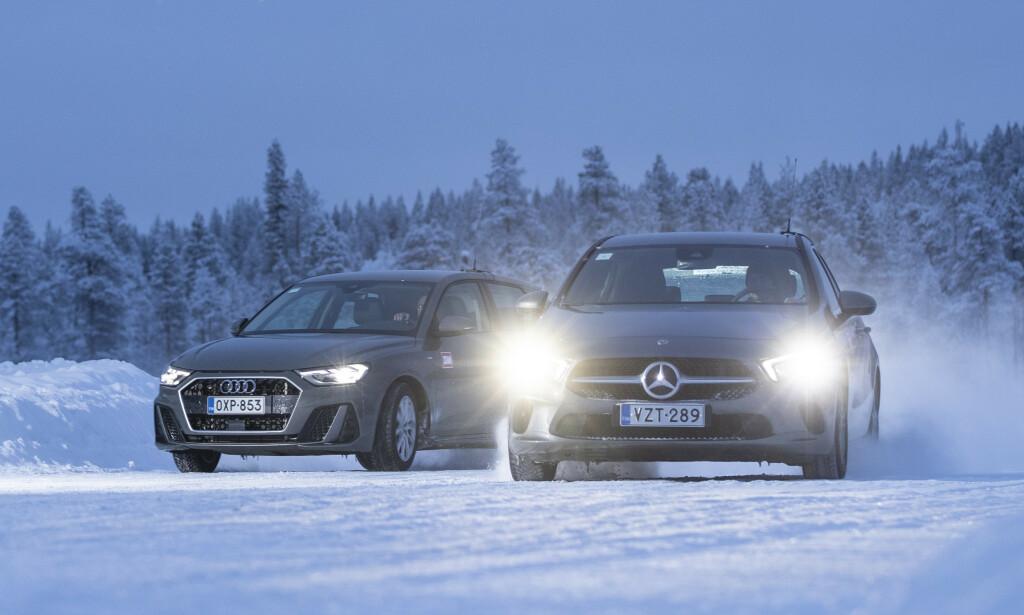 TAR LITE HENSYN: Selvopptatte menn dras mot luksusbiler som Audi, Mercedes og BMW. De tar mindre hensyn i trafikken enn andre, viser denne finske studien. Foto: Markus Pentikainen