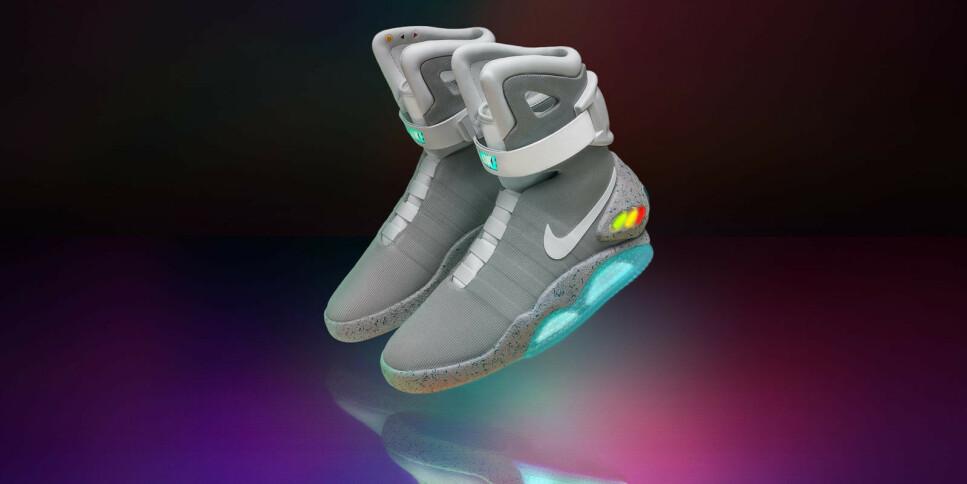 TILBAKE TIL FREMTIDEN: De selvsnørende lissene i skoene fra 80-tallsklassikeren «Tilbake til fremtiden» kan snart gjøre et comeback i en ny forkledning. Foto: Nike
