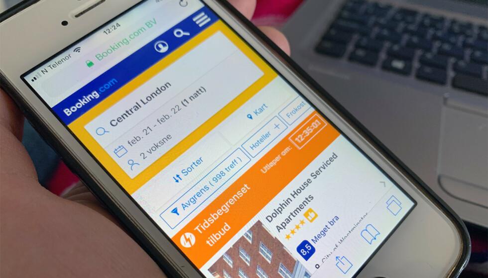 PRISINFORMASJON: Den store aktøren på formidling av overnatting, Booking.com, endrer praksis på grunnlag av nye EU-regler. Foto: Berit B. Njarga
