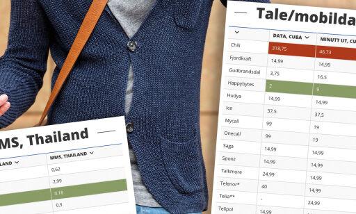image: Ekstreme prisforskjeller på mobilbruk i utlandet