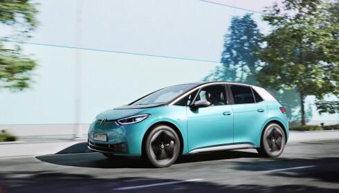 FÅR TROMMEL-BREMSER: For å unngå problemer med rust på bremsene bak, får VWs nye, elektriske ID.3 gode, gamle trommel-bremser. Foto: VW