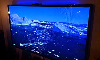 HOS OSS: Ser man på TV i én farge, er det enkelt å stille inn LIFX Z TV. Foto: Øystein B. Fossum