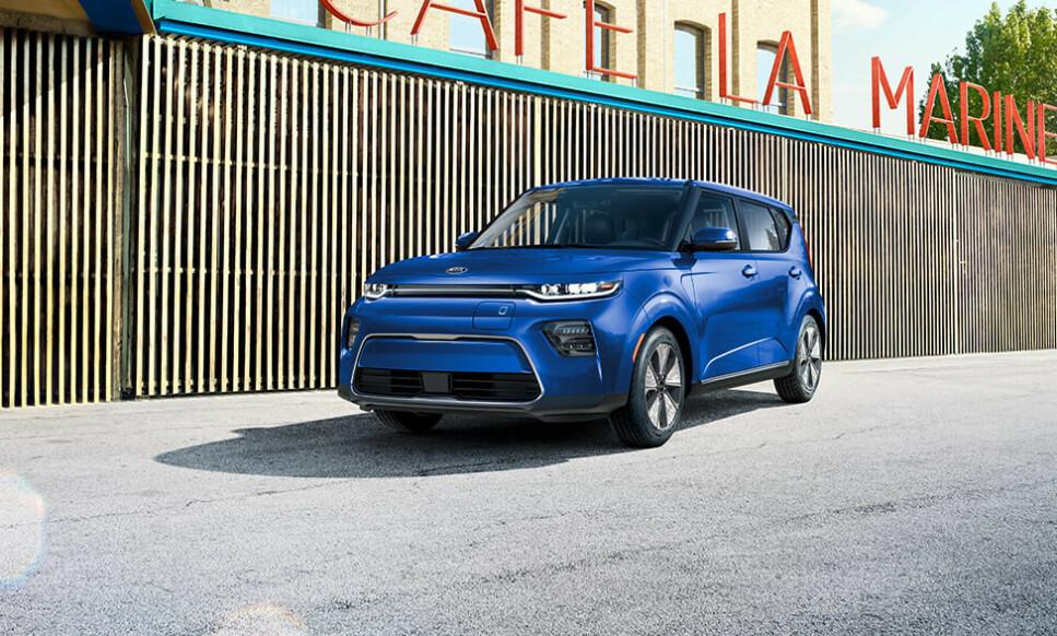 <strong>KAN BLI «VERDENS BESTE BIL»:</strong> Den snertne elbilen Kia Soul EV (e-Soul) er blant finalistene i World Car of the Year 2020. Foto: Kia