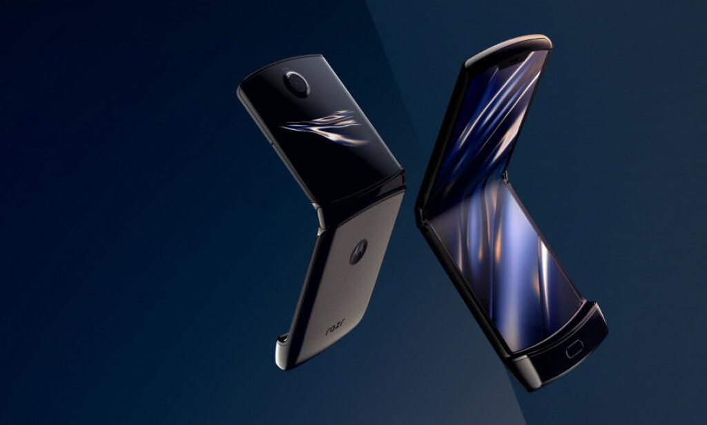 BRETTBAR: Den ser lekker ut på bildene, men Motorola får svake kritikker rundtom for sin nye Razr-telefon. Foto: Motorola