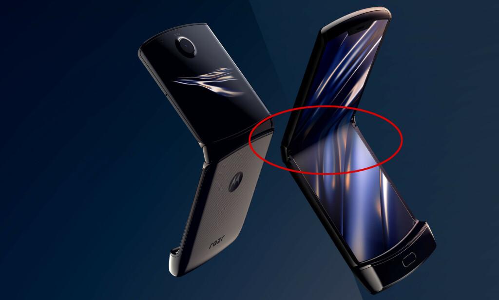 AIAI: Motorola Razr får gjennomgå av kritikerne. Nå rapporterer flere om at skjermen sprekker opp eller løsner etter kort tids bruk. Foto: Motorola