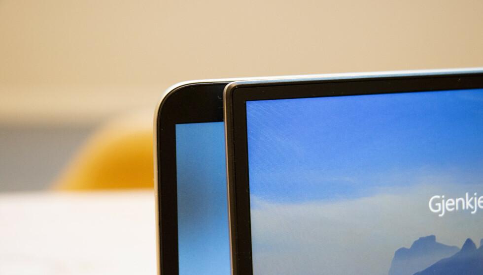 Skjermrammen er barbert med rundt en halv centimeter. Foto: Martin Kynningsrud Størbu
