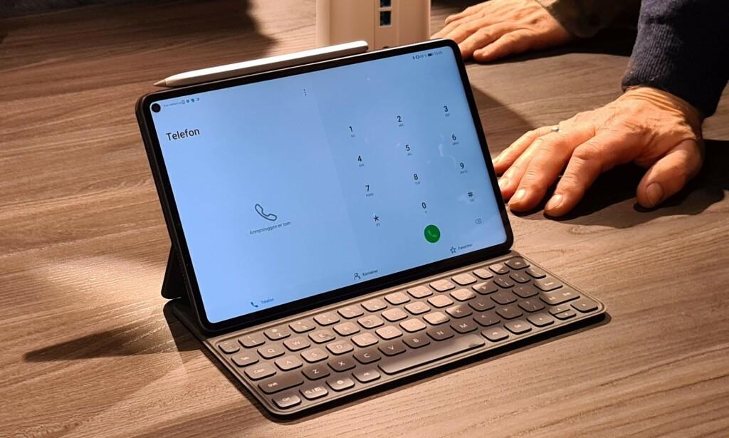 MatePad Pro med M-Pencil og smart magnetic keyboard. Foto: Pål Joakim Pollen