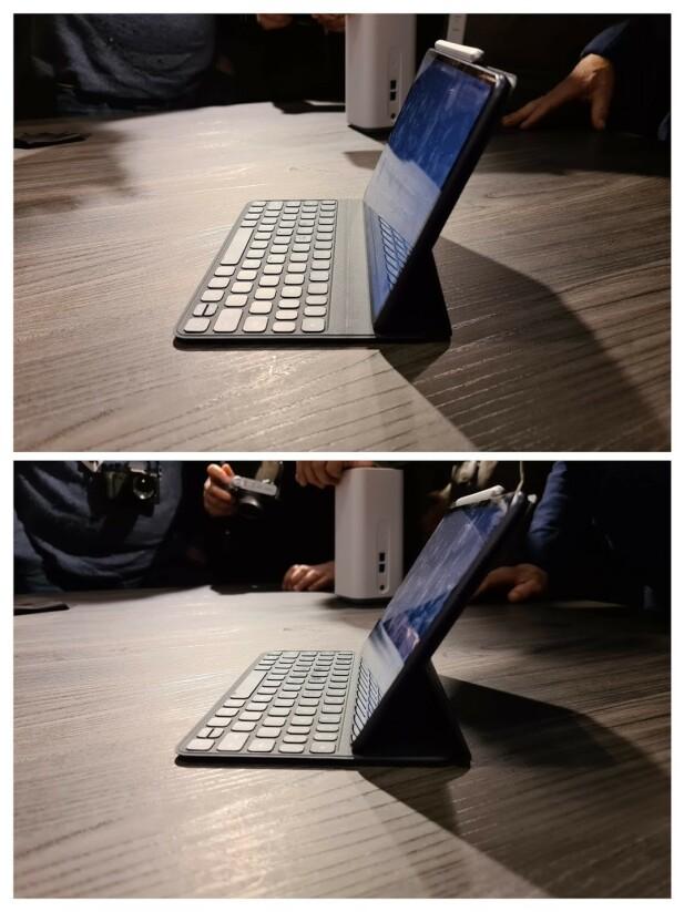 TO VINKLER: Tastaturet har to magnetstriper slik at skjermen kan vinkles på to ulike måter. Foto: Pål Joakim Pollen