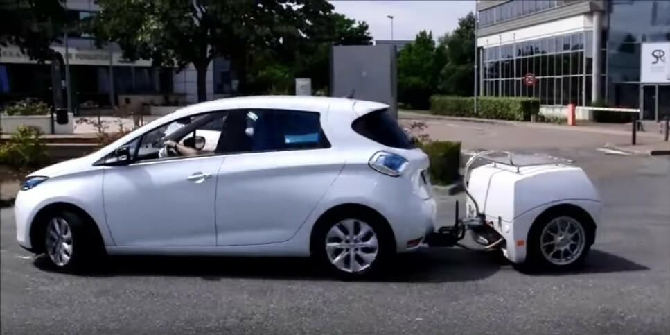 DOBLER REKKEVIDDEN: Med denne batteri-hengeren på 60 kWt, vil rekkevidden på en billig elbil kunne dobles når du skal på langtur. Foto: EP Tender