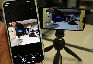 Gammel mobil som overvåkingskamera