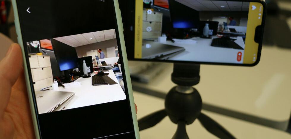 image: Gammel mobil som overvåkingskamera