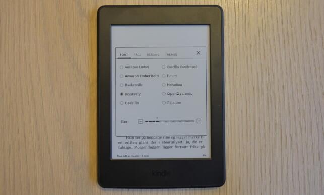 Kindle gjør det mulig å lagre egne temaer. Foto: Martin Kynningsrud Størbu