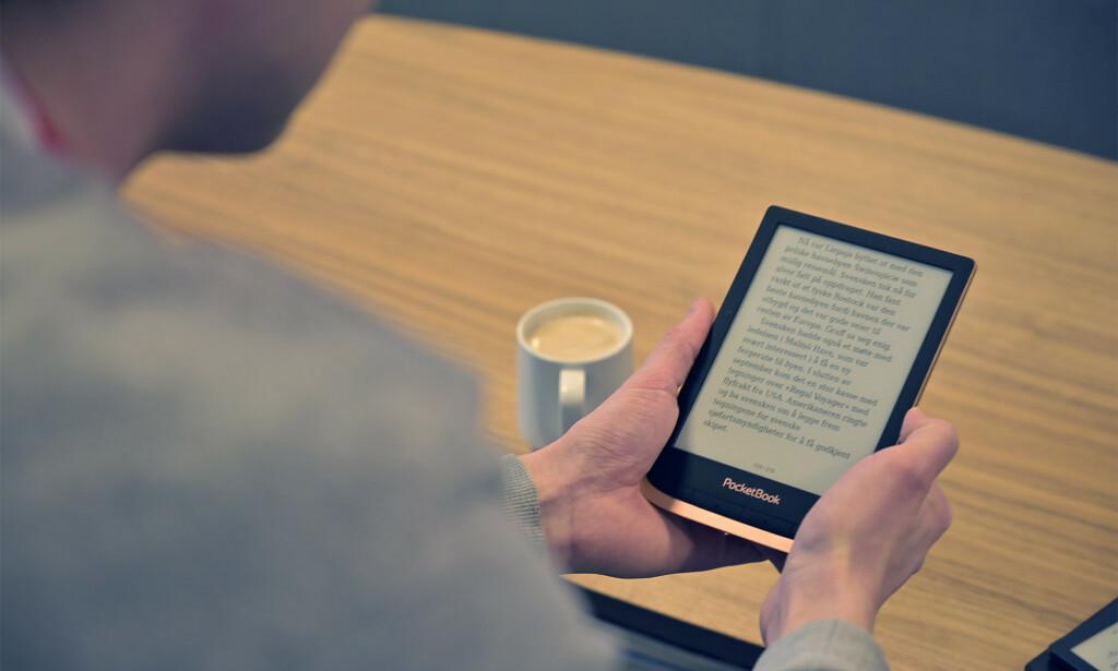 Pocketbook Touch HD 3 er minst og vår favoritt til å lese bøker på. Foto: Martin Kynningsrud Størbu