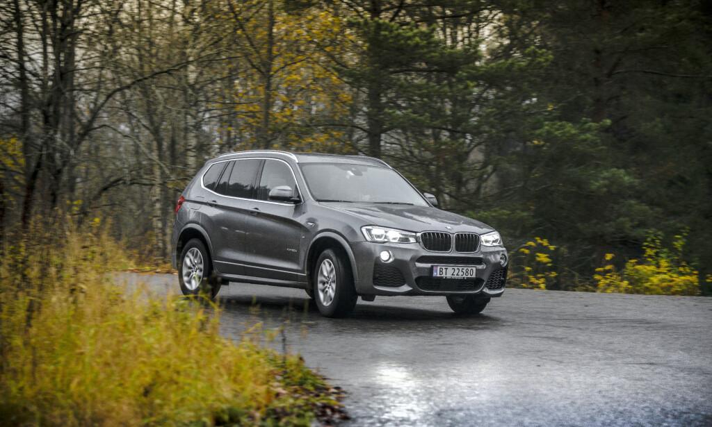 DIESEL: Bruktbilsalget av dieselbiler er høyt, viser tall fra Finn.no. Her en BMW X3 fra en test i 2016. Foto: Jamieson Pothecary