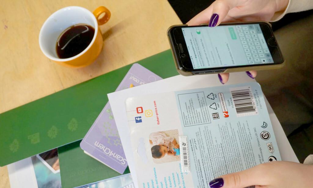 SKAL AVSLØRE FARLIGE STOFFER: EU-appen som nå er lansert i 12 europeiske land, inkludert Sverige og Danmark, skal avsløre bruk av farlige stoffer i vanlige forbrukerprodukter som klær, leker, elektronikk, møbler og andre ting. Foreløpig er det uklart om den vil bli tilgjengelig for norske forbrukere, men både myndigheter og forbrukerorganisasjoner sier at de mener den vil dekke et viktig behov. Foto: askreach.eu