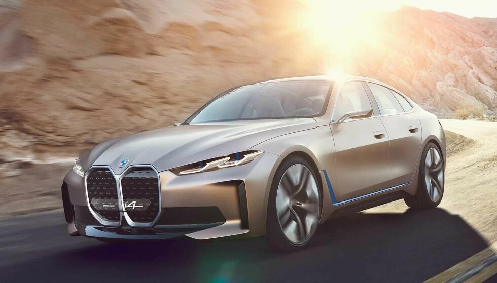 OPPSIKTSVEKKENDE: BMW har blitt omdiskutert med sine fronter de siste par årene, og deres nye konsept har allerede fått flatterende sammenligninger på sosiale medier. Kommende 3- og 4 serie vil trolig få en design lignende denne. Foto: BMW