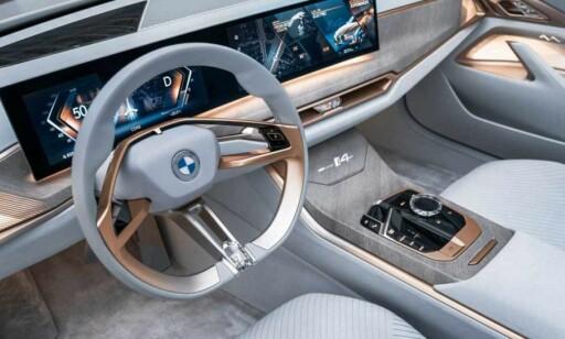 ALT NYTT: Det eneste man kjenner igjen er iDrive-systemet fra BMW. Dagens BMW-eiere vil være glade for dette. Skjermdesignen derimot, minner veldig mye om hva vi har sett i fransk bilindustri. Foto: BMW.