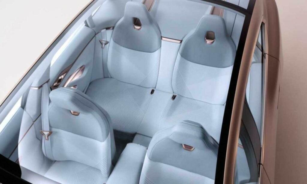 FRA I3. Setene er inspirert fra dagens i3, men regn med langt mer tradisjonell inndeling av bakre seterad. Foto: BMW.