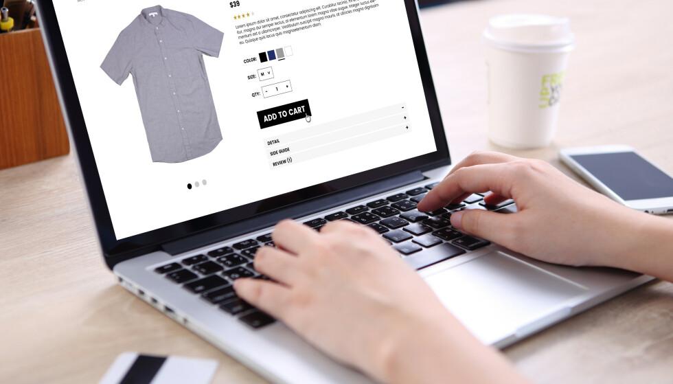 """NETTHANDEL: Velger du """"feil"""" nettbutikk etter 1. april, må du betale et gebyr på 149 kroner. Foto: NTB Scanpix"""