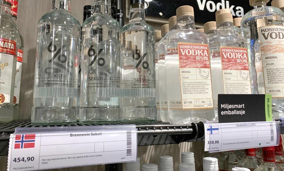 HÅNDSPRIT: Kan du kjøpe ei flaske med 60 prosent sprit på polet og ha ditt eget hånddesinfeksjonsmiddel? Svaret får du i saken under. Foto: Eilin Lindvoll.