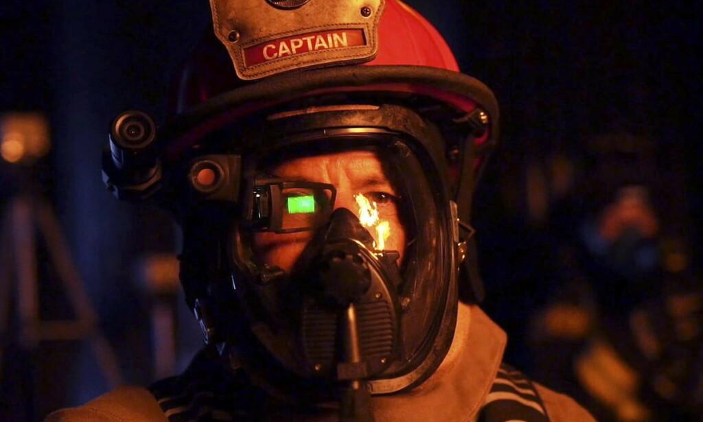 QWAKE C-THRU: Dingsen du ser over høyre øye på brannpersonalet er et eksempel på hvordan AR-teknologi kan brukes. Foto: Qwake