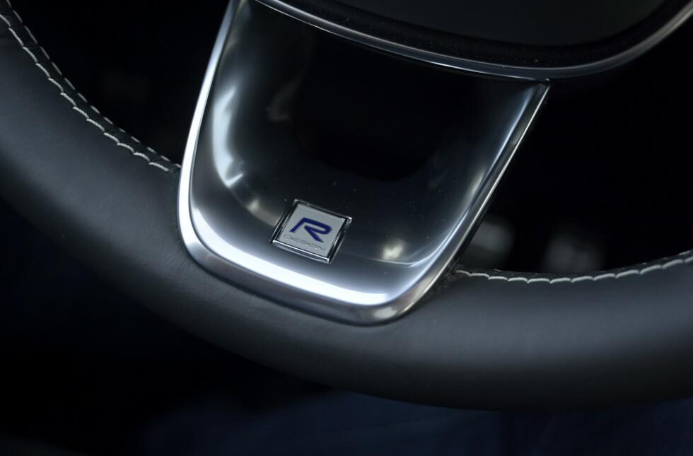 DETALJER: Volvoen har et generelt høyt nivå på detaljer og materialkvalitet. Foto: Rune M. Nesheim