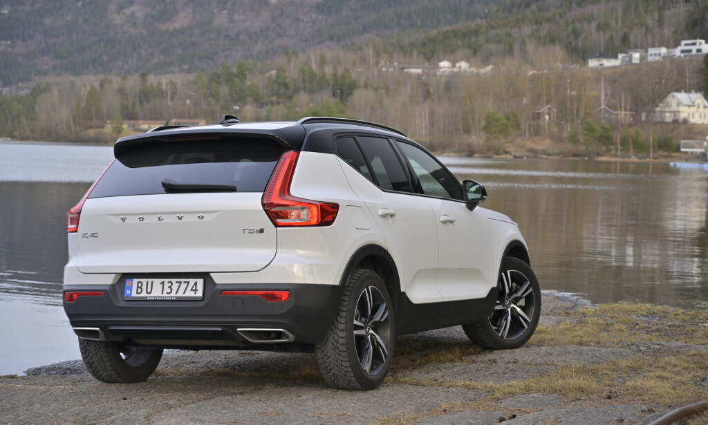 UT FRA MENGDEN: Designen ligner ingen annen, selv ikke de andre i Volvo-familen. Volvo XC40 T5 Twin Engine. Foto: Rune M. Nesheim
