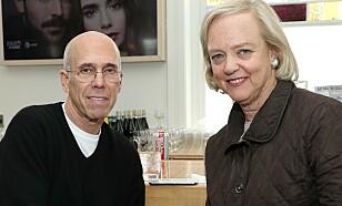 Jeffrey Katzenberg og Meg Whitman. Foto: John Salangsang/Variety/Shutterstock/NTB Scanpix