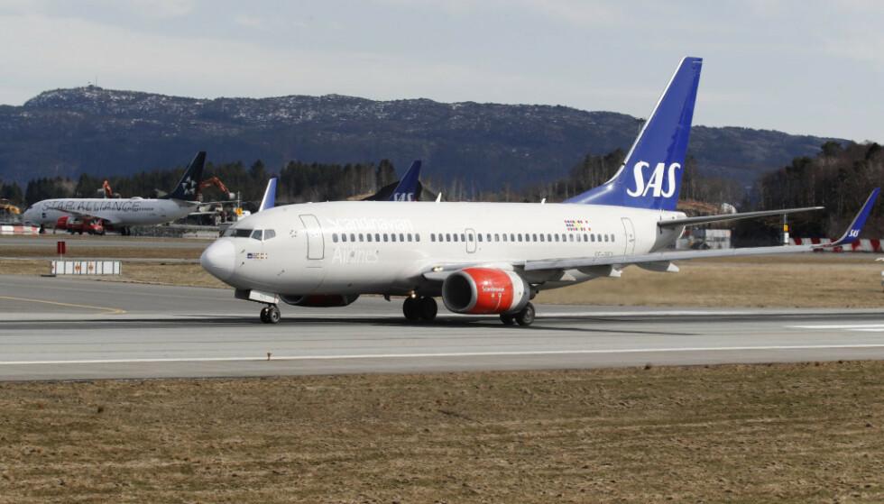 INNREISEFORBUD: USA har innført innreiseforbud på enkelte flyvninger fra Europa, men SAS og Norwegian flyr som normalt torsdag. Foto: Terje Bendiksby/NTB Scanpix
