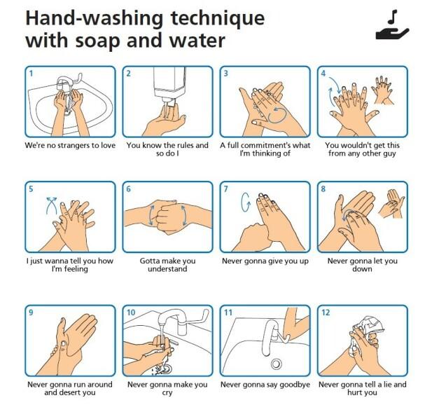 Lag en egen «vask hendene»-plakat
