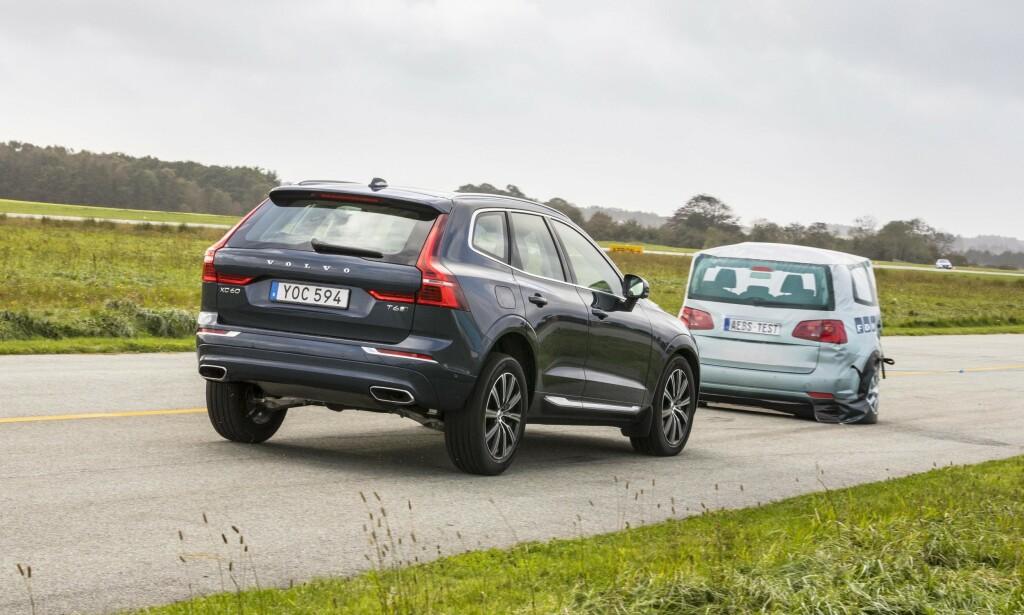 VIRKET I 2018: Da vi testet 2018-modellen av Volvo XC60 i forbindelse med Car of the Year- utvelgelsen i 2018, fungerte systemet som det skulle. Bilen bremset automatisk fra 75 km/t. Foto: FDM