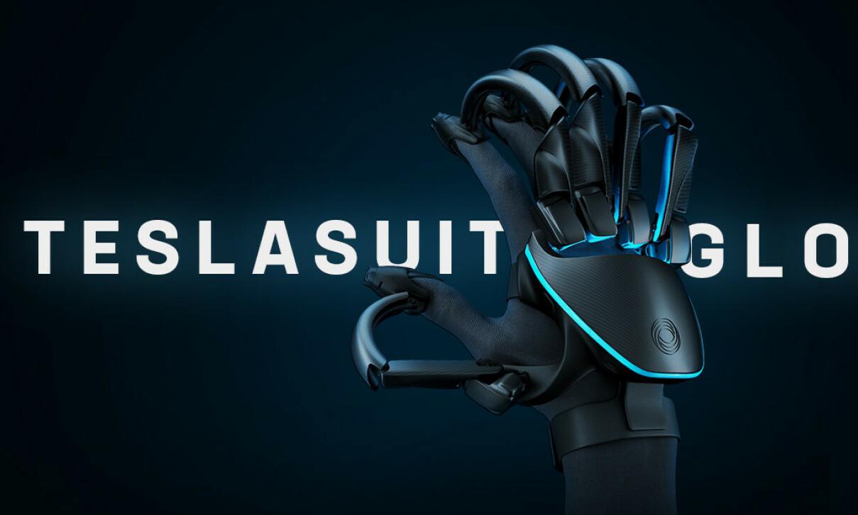 NEXT LEVEL: Med denne VR-hansken fra Teslasuit skal du kunne gjøre at VR-gaming enda mer virkelighetsnært. Foto: Teslasuit