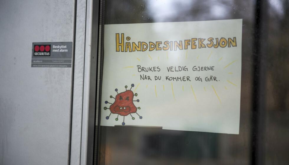 Det er folketomt i Stavanger på grunn av koronaviruset, folk jobber fra hjemmekontor for å unngå smittefare. Vålandshaugen barnehage og alle andre barnehager og skoler holder stengt på grunn av viruset. Foto: Carina Johansen / NTB scanpix