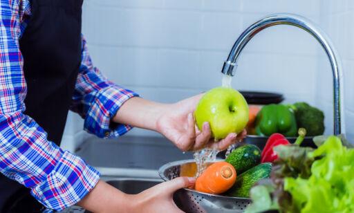 image: - Vask alt, også frukt med skall