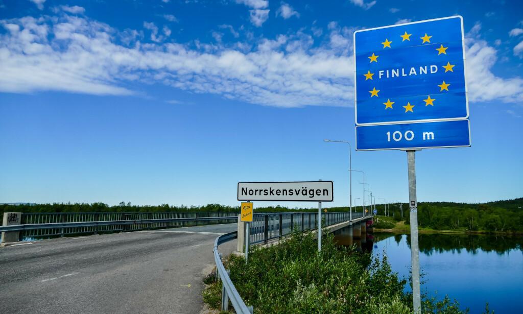 RIKSEGRENSA: Finland innfører midlertidig forbud mot å krysse grensen. Foto: Shutterstock