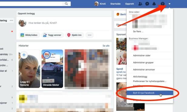 Nå kan du prøve nye Facebook