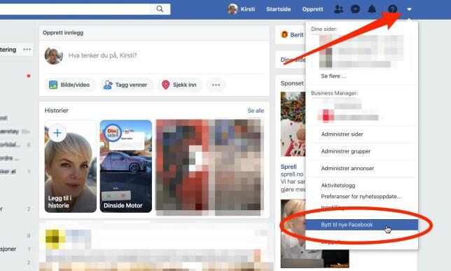 image: Nå kan du prøve nye Facebook