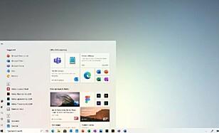 STARTMENY: De dynamiske flisene forsvinner ikke, men Microsoft dropper fargerene.
