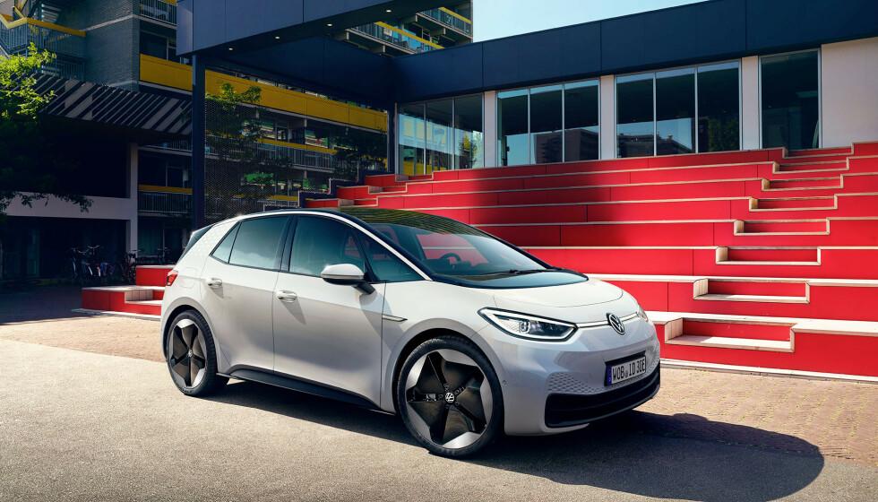 KAN BESTILLES: Elbilen VW ID.3 er av importøren spådd å bli en bestselger i Norge. De vil imidlertid ikke si noe om hvor mange som faktisk har bestilt. Foto: Volkswagen