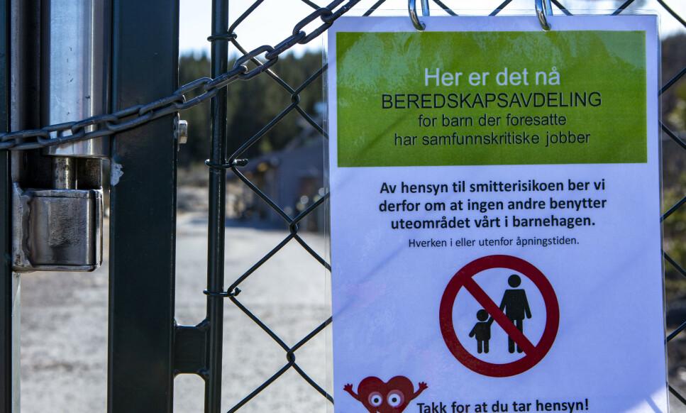 STENGT BARNEHAGE: Du får likevel ikke kontantstøtte om du er hjemme med barn mellom ett og to år. Foto: Paul Kleiven/NTB Scanpix