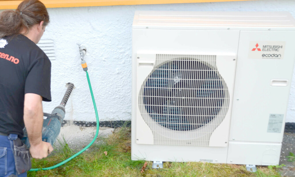 UTSETTER FJERNING AV STØTTE: Enova utsetter fjerning av støtte til installering av luft-vann og avtrekksvarmepumper fra 1. april til 1. juli. Foto: Mitsubishi Electric Europe B.v. Norwegian Branch
