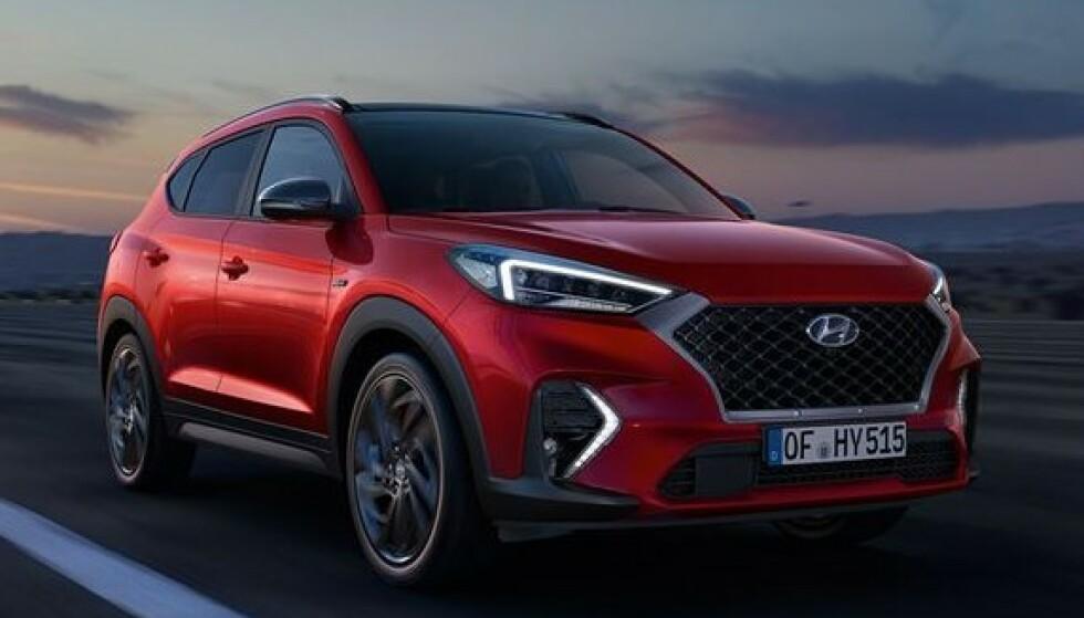 36.000 KRONER: Hyundai Tucson koster fra rundt 450.000 kroner i Norge. Hvis forhandleren tar 8 prosent av kjøpesummen i avbestillingsgebyr, må du ut med 36.000 kroner. Har du bestilt en velutstyrt utgave, må du belage deg på å betale mye mer. Foto: Hyundai