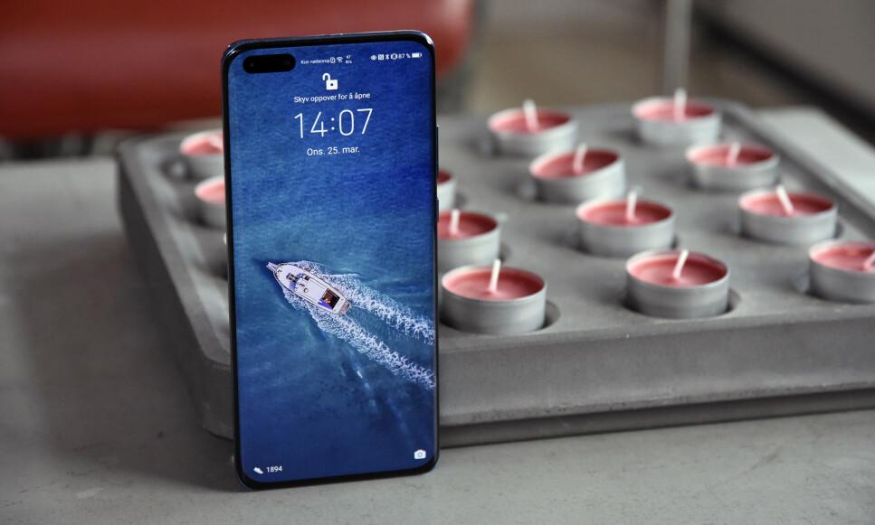 NY TOPPMODELL: Huawei har lansert P40 Pro, helt uten Googles programvare innabords. Foto: Pål Joakim Pollen