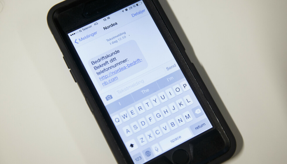 PASS PÅ: Telenor oppfordrer alle å ha en sunn skepsis til eposter og SMSer som utgir seg å være fra for eksempel kjente banker, nettbutikk eller strømmetjenester. Illustrasjonsfoto: Heiko Junge / NTB scanpix
