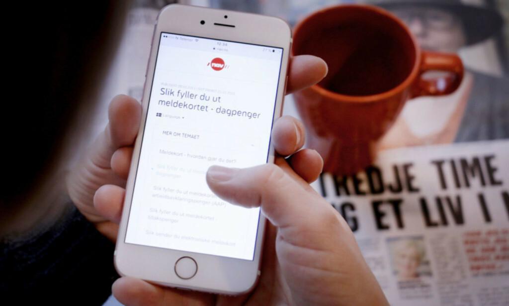 FLERE SØKER: Det har kommet nesten 300.000 søknader om dagpenger til Nav etter at corona-tiltakene ble satt i kraft. Foto: Ole Petter Baugerød Stokke