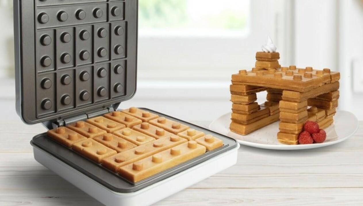 VAFFELMORO: The Brick Waffler skal la deg bygge hva du vil, med legolignende vaffelklosser. Foto: That's Amazing - Kitchen